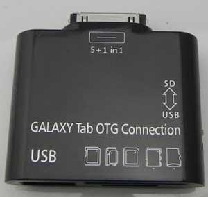USB переходник + разъем для карт памяти для Samsung Galaxy Note 10.1 N8000/N8010/N8020