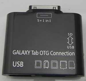Usb переходник + разъем для карт памяти для samsung galaxy tab 2 10.1 p5100/p5110