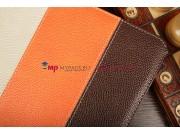 Чехол-обложка для 3Q Qoo q-pad RC9724C коричневый кожаный