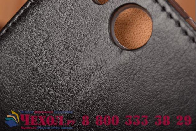 Чехол-книжка из качественной импортной кожи с мульти-подставкой застёжкой и визитницей для айсер эсер ликвид джет з с57  черный