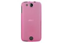 Ультра-тонкая полимерная из мягкого качественного силикона задняя панель-чехол-накладка для acer liquid jade z s57 розовый