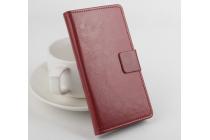 Чехол-книжка из качественной импортной кожи с мульти-подставкой застёжкой и визитницей для айсер эсер ликвид джет з с57 коричневый