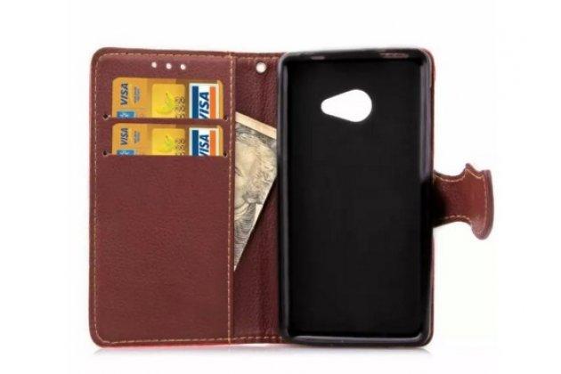 Чехол-книжка из качественной импортной кожи с мульти-подставкой застёжкой и визитницей для асер ликвид з220 / м220 черный
