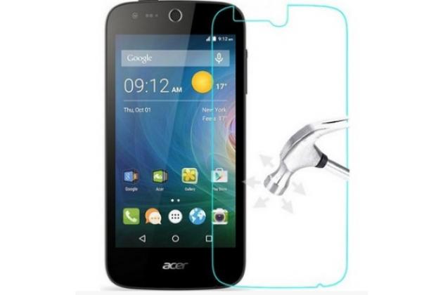 Защитное закалённое противоударное стекло премиум-класса из качественного японского материала с олеофобным покрытием для телефона acer liquid z330/ z330 duo/m330