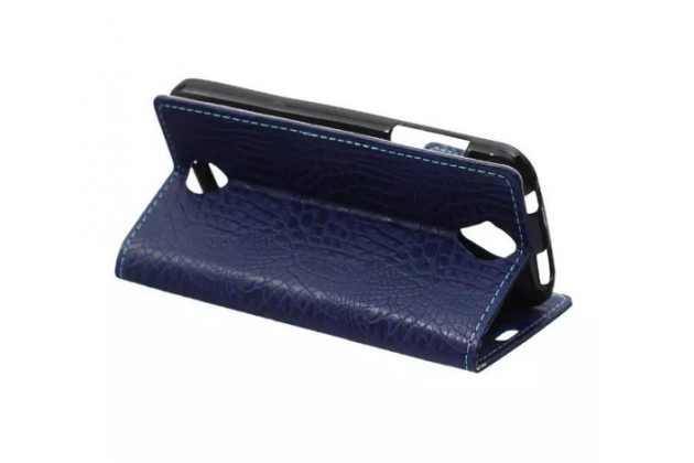 Чехол-книжка с подставкой для acer liquid z330 duo/m330 лаковая кожа крокодила фиолетовый