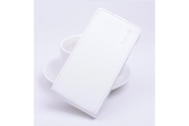 Вертикальный откидной чехол-флип для acer liquid z330/ z330 duo/m330 белый
