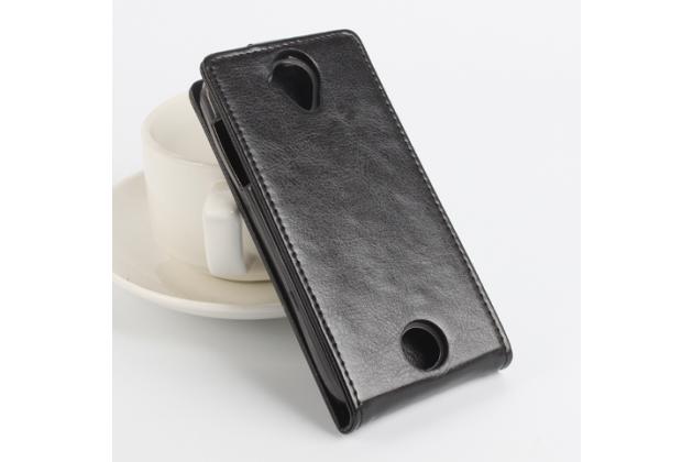 Вертикальный откидной чехол-флип для acer liquid z330/ z330 duo/m330  черный
