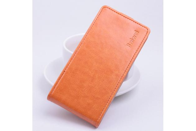 Вертикальный откидной чехол-флип для acer liquid z330/ z330 duo/m330 оранжевый