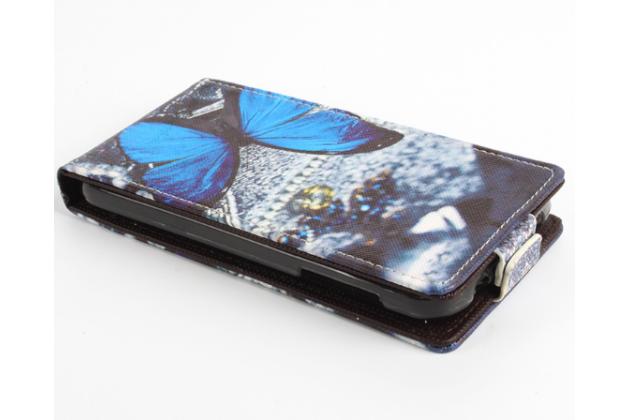 """Вертикальный откидной чехол-флип для acer liquid z330/ z330 duo/ m330  """"тематика бабочка"""""""