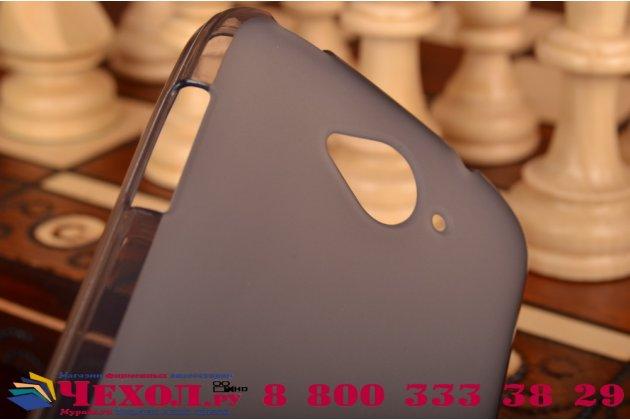Ультра-тонкая полимерная из мягкого качественного силикона задняя панель-чехол-накладка для  acer liquid z530 черная