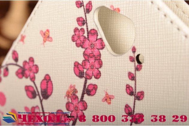 """Уникальный необычный чехол-книжка для acer liquid z530 """"тематика цветок сакуры"""""""
