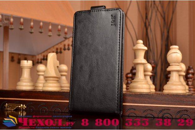 """Вертикальный откидной чехол-флип для  acer liquid z530 черный из натуральной кожи """"prestige"""" италия"""