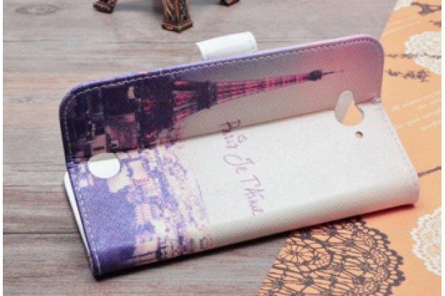 """Уникальный необычный чехол-подставка с визитницей кармашком для  acer liquid z530  """"тематика франция"""""""