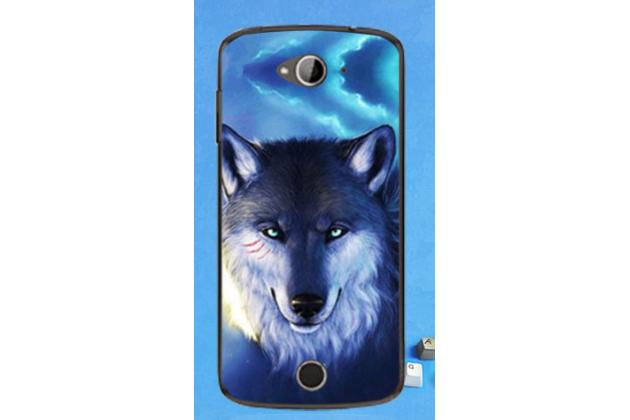 """Необычная из легчайшего и тончайшего пластика задняя панель-чехол-накладка для acer liquid z530   тематика """" волк"""""""