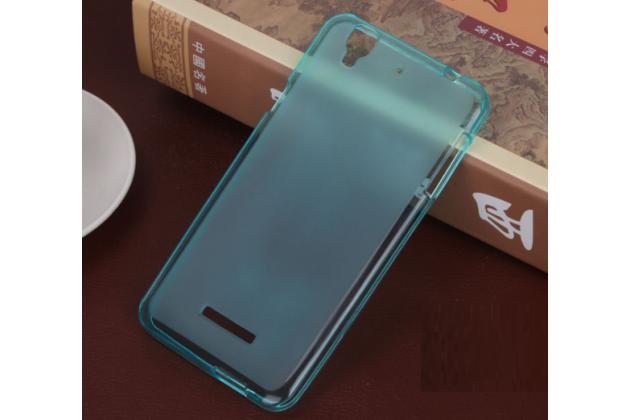 Ультра-тонкая полимерная из мягкого качественного силикона задняя панель-чехол-накладка для acer liquid z630 / z630 duo / z630s голубая