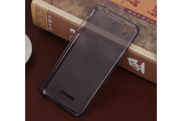 Ультра-тонкая полимерная из мягкого качественного силикона задняя панель-чехол-накладка для acer liquid z630 / z630 duo / z630s черная