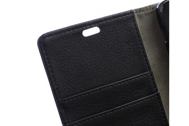 Чехол-книжка из качественной импортной кожи с мульти-подставкой застёжкой и визитницей для асер ликвид з630 черный