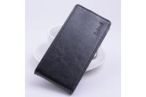 """Вертикальный откидной чехол-флип для acer liquid z630 / z630s черный из натуральной кожи """"prestige"""" италия"""