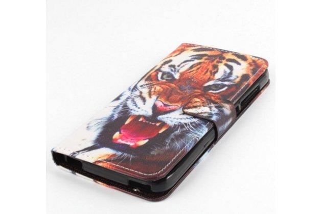 """Уникальный необычный чехол-подставка с визитницей кармашком на acer liquid z630  """"тематика тигр"""""""
