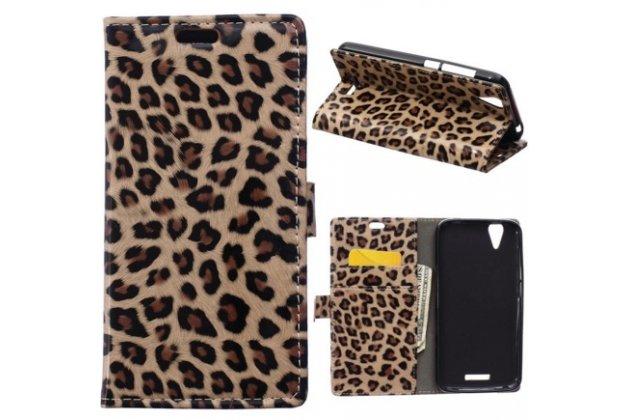 Чехол-защитный кожух для acer liquid z630  леопардовый коричневый