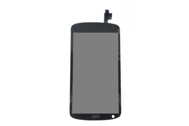 Lcd-жк-сенсорный дисплей-экран-стекло с тачскрином на телефон acer liquid e1 duo черный + гарантия