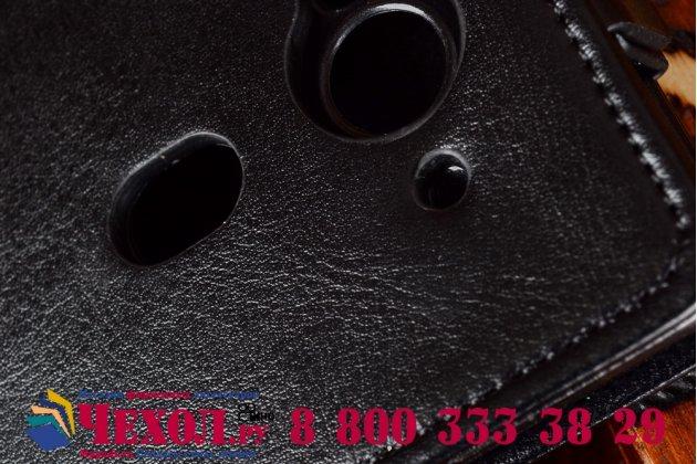 """Вертикальный откидной чехол-флип для acer liquid e3 e380 черный из качественной импортной кожи """"prestige"""" италия"""