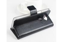 Чехол-книжка из качественной импортной кожи с мульти-подставкой застёжкой и визитницей для асер ликвид е600 черный
