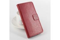 Чехол-книжка из качественной импортной кожи с мульти-подставкой застёжкой и визитницей для асер ликвид е600 коричневый