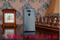 """Вертикальный откидной чехол-флип для acer liquid e600 черный из качественной импортной кожи """"prestige"""" италия"""