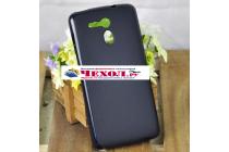 Ультра-тонкая полимерная из мягкого качественного силикона задняя панель-чехол-накладка для acer liquid e700 черный