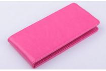 Вертикальный откидной чехол-флип для acer liquid e700 розовый кожаный