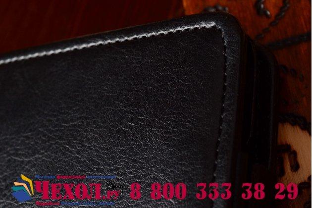 """Вертикальный откидной чехол-флип для acer liquid s1 duo s510 черный из качественной импортной кожи """"prestige"""" италия"""