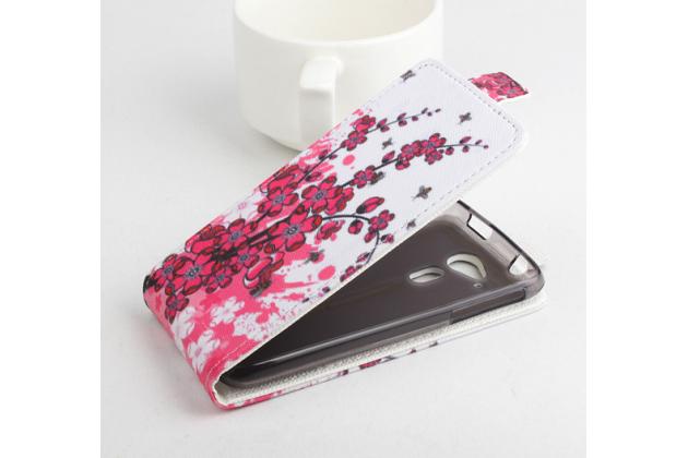 """Вертикальный откидной чехол-флип для acer liquid z4 z160   """"тематика цветок вишни"""""""