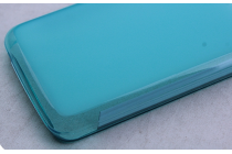 Ультра-тонкая полимерная из мягкого качественного силикона задняя панель-чехол-накладка для acer liquid z410/ z410 duo голубая