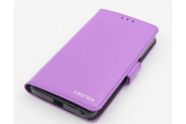 Чехол-книжка для acer liquid z410/ z410 duo с визитницей и мультиподставкой фиолетовая