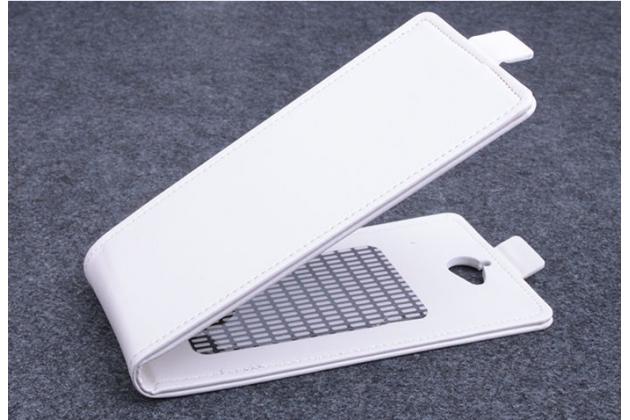 Вертикальный откидной чехол-флип для acer liquid z410 duo белый кожаный