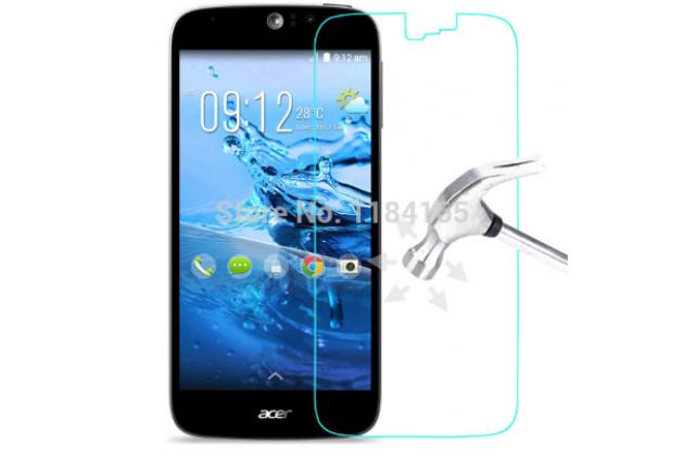 Защитное закалённое противоударное стекло премиум-класса из качественного японского материала с олеофобным покрытием для телефона acer liquid m220 / acer liquid z220/ z220 duo