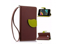 Необычный чехол-книжка-подставка с визитницей для телефона acer liquid m220 / acer liquid z220/ z220 duo коричневый кожаный