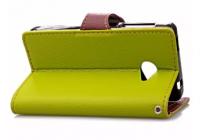 Необычный чехол-книжка-подставка с визитницей для телефона acer liquid m220 / acer liquid z220/ z220 duo зеленый кожаный