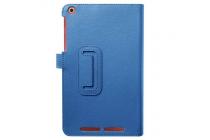 Чехол для acer one 8 b1-820/821/b1-830 синий кожаный