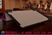 """Умный чехол-книжка самый тонкий в мире для acer one 8 b1-820/821/b1-830 """"il sottile"""" фиолетовый кожаный"""