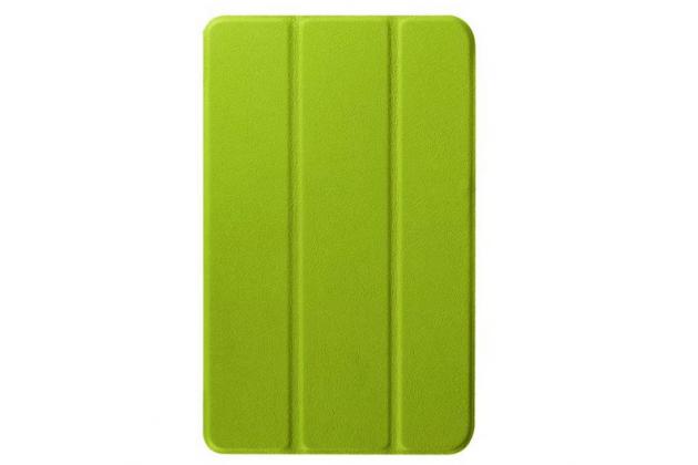 """Умный чехол-книжка самый тонкий в мире для acer one 8 b1-820/821/b1-830  """"il sottile"""" зеленый кожаный"""