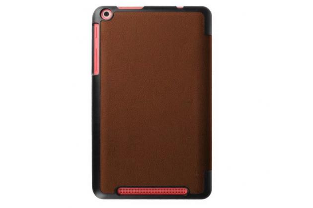 """Умный чехол самый тонкий в мире для планшета acer one 8 b1-820/821/b1-830 """"il sottile"""" коричневый кожаный"""