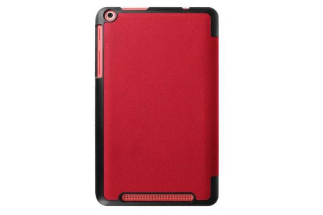 """Умный чехол самый тонкий в мире для планшета acer one 8 b1-820/821/b1-830 """"il sottile"""" красный кожаный"""