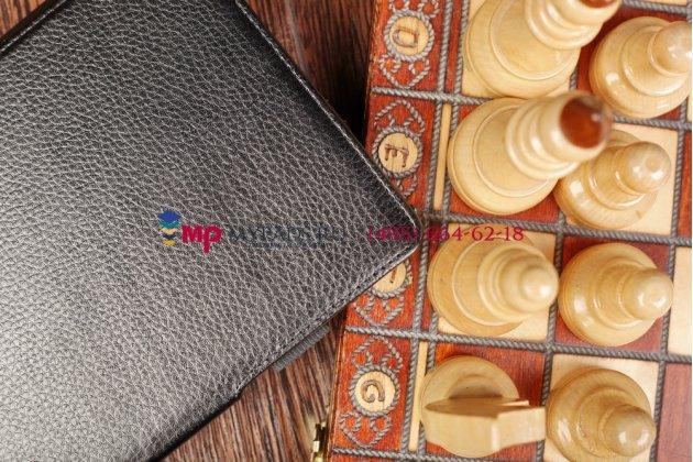 """Чехол для acer iconia tab a1-810/811 с мульти-подставкой и держателем для руки черный кожаный """"deluxe"""" италия"""