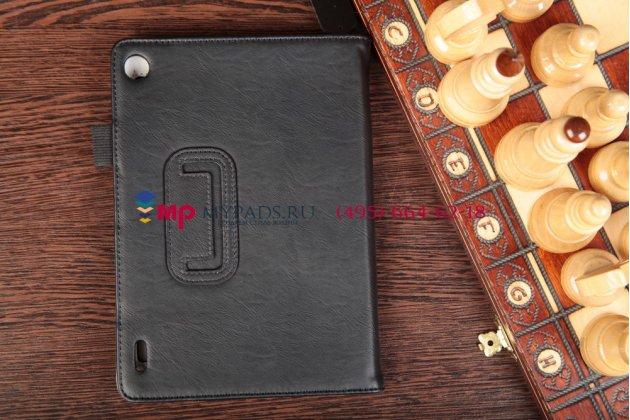 """Чехол-обложка для acer iconia tab a1-810/a1-811 черный натуральная кожа """"prestige"""" италия"""