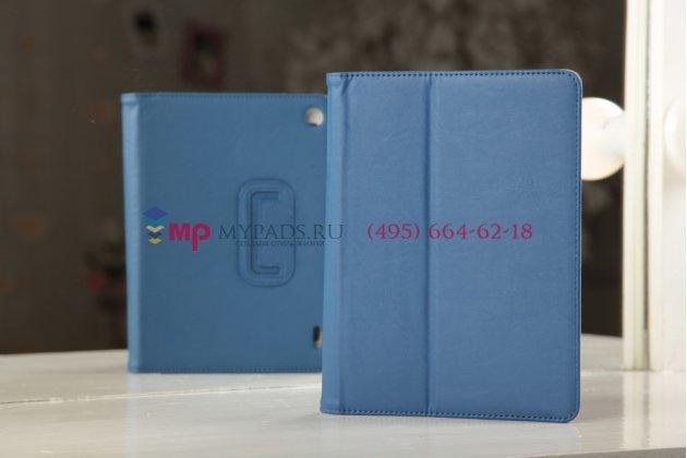 "Чехол-книжка для acer iconia tab a1-810/a1-811 синий натуральная кожа ""prestige"" италия"