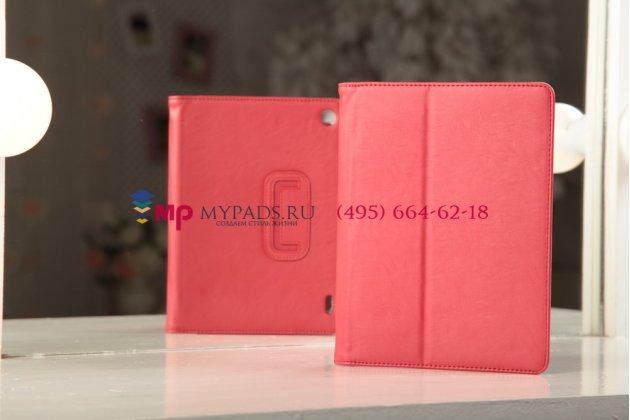 """Чехол-обложка для acer iconia tab a1-810/811 красный натуральная кожа """"prestige"""" италия"""