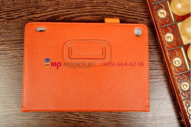 """Чехол-обложка для acer iconia tab a1-810/811 оранжевый натуральная кожа """"prestige"""" италия"""