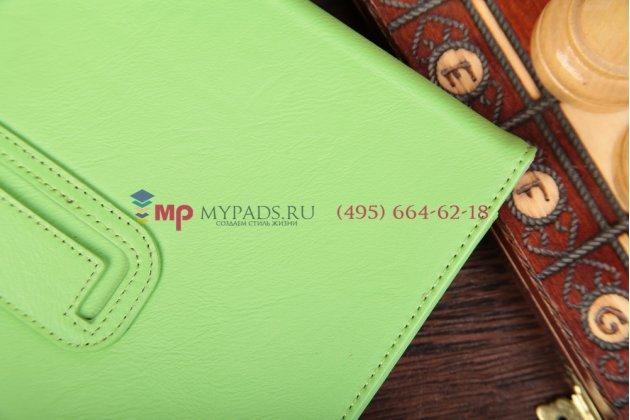 """Чехол-обложка для acer iconia tab a1-810/a1-811 зеленый натуральная кожа """"prestige"""" италия"""